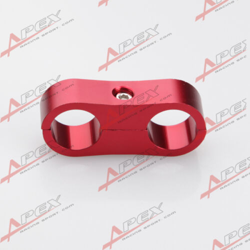 Braided Hose Red Separator Clamp Fitting Adapter Fuel Oil AN -10 AN10