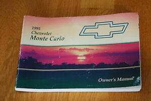 1995 chevy monte carlo owners manual handbook book owner s guide rh ebay com 1995 chevy s10 owners manual 1995 chevy suburban owners manual
