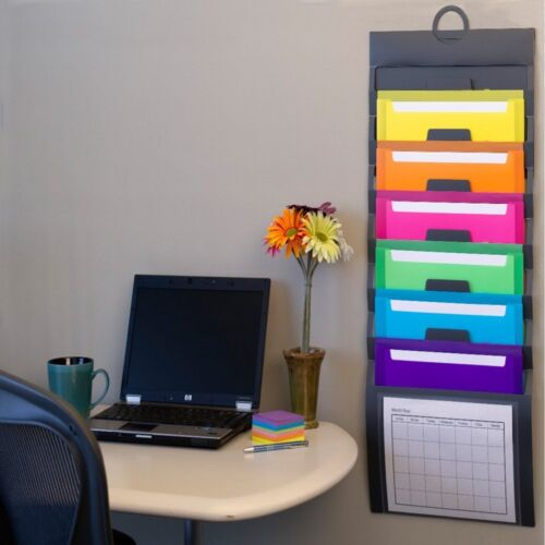File Folder Holder Office Organizer School Hanging Wall 06 Fabric Pocket Chart