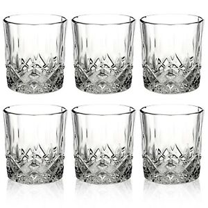 Queensway-6pc-Whiskey-Tumblers-Drinking-Glasses-Gift-Boxed-Set-Wedding-Xmas-NEW