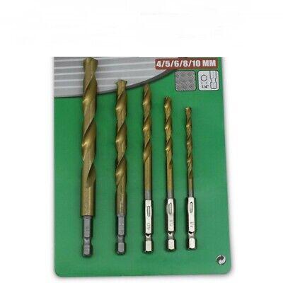 10 mm Holzbohrer mit Sechskantschaft Spiralbohrer mit Sechskant Bit-Aufnahme 3 mm