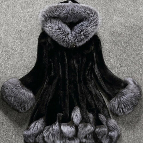 Jacke Oberteile Mantel Casual Frauen Winter Damen Party Kunstpelz Langarm