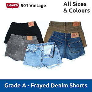 c2f996ffb3a Vintage Levis 501 Grade A High Waisted Cut Off Jean Shorts 6 8 10 12 ...