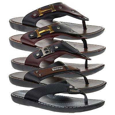 Nuevo Para Hombres Sandalias Ojotas de caminar Toe Post Comodidad Resbalón En Playa De Verano 6-11