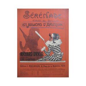 Noten & Songbooks Antiquarische Noten/songbooks Drigo Richard Serenade Die Millionen Von'harlekin Piano 1920 Partitur