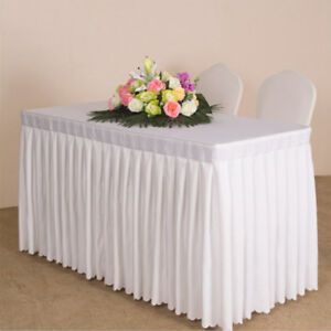 Mesa Principal Baby Shower.Details About Christmas Table Skirt For Wedding Party Birthday Baby Shower Art Home Tablecloth
