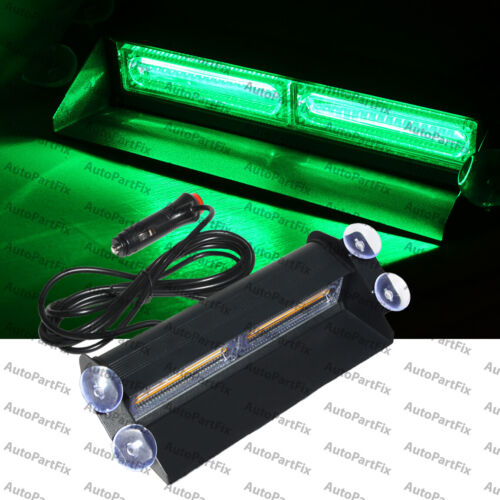 2-COB Green Light Emergency Car Vehicle Warn Strobe Flash Brighter than LED