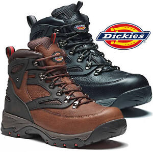 MENS DICKIES PRESTON S3 SAFETY WORK BOOTS SHOES HIKER STEEL TOE CAP SZ UK 6-13