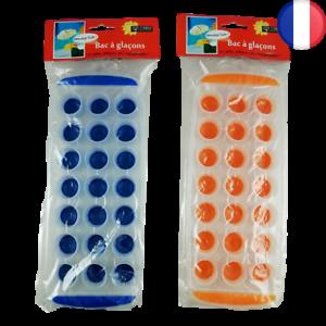 Lot de 2 X Bac à glaçon x21 en silicone démoulage facile 2 couleurs glaçons