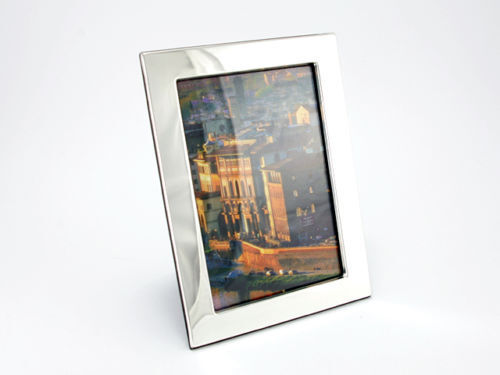 PORTAFOTO CORNICE PORTAFOTO 925er Sterling argentoo 10x15 cm Incisione Incisione Incisione Legno Immagine Foto Nuovo c46609