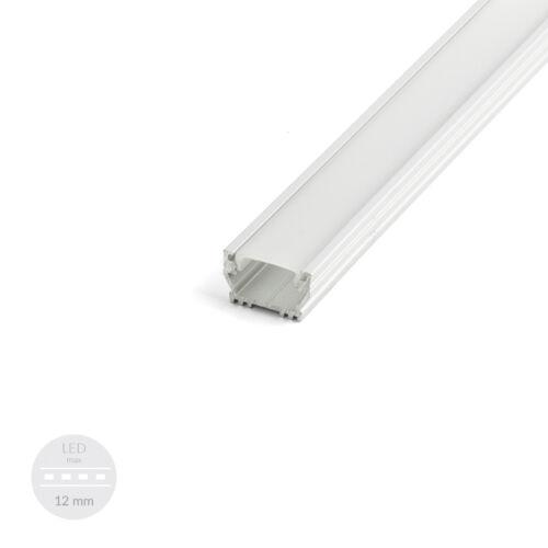 Profil LED Schiene EINPUTZ 10,75mm Abdeckung Klick zum einschieben natureloxiert