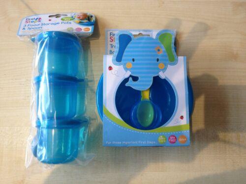 matching Baby Travel Bowl Spoon set /& 3no food storage pots on the go feeding