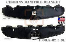 BLACK TURBO MANIFOLD HEAT BLANKET FOR 98.5 - 02 DODGE RAM 2500 3500 CUMMINS 5.9