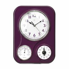 Item 4 Kitchen Rectangular Wall Clock With Timer Temperature Display Plastic
