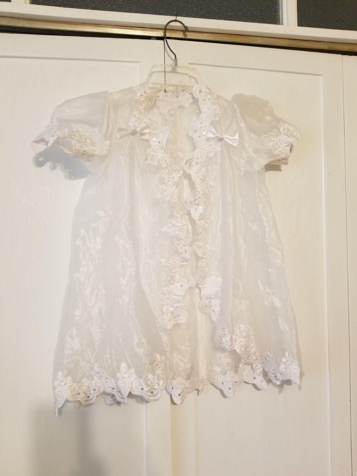 1st Communion / Flower Girl Bolero Jacket Cover Up Shrug White w/ Lovely Detail