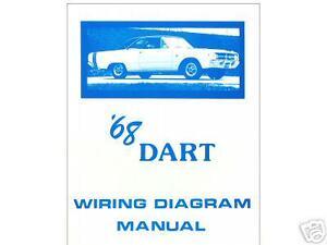 1968 68 dodge dart wiring diagram manual ebay rh ebay com 67 Dart 68 Dart GTS