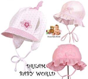 RICH Cotton girls sun hat bonnet Spring Summer TIE UP Baby CAP 0 ... 0857dd53a3f