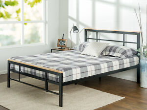 Zinus Marcia Urban Metal And Wood Platform Bed Ebay