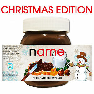SNOWMAN-CHRISTMAS-Personalised-NUTELLA-Gift-Love-Fun-Chocolate-Spread-Party