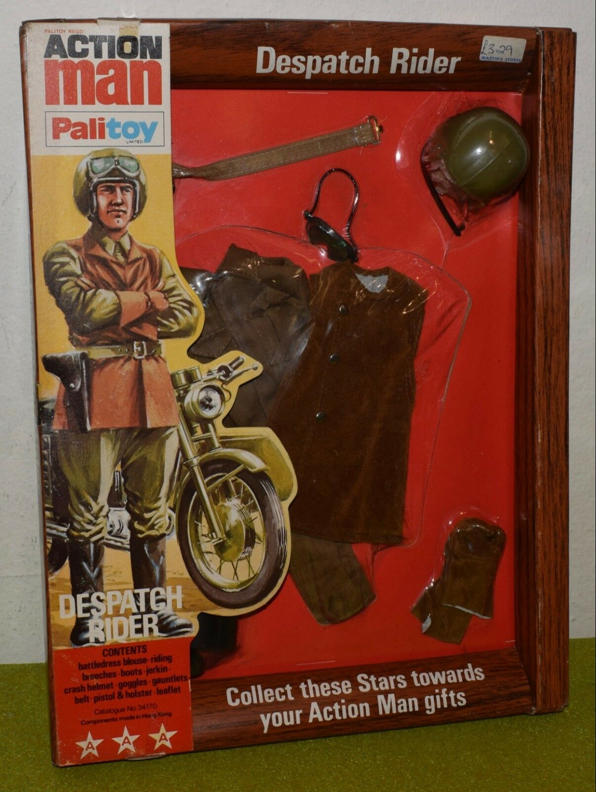 ORIGINAL VINTAGE ACTION MAN CARDED PALITOY DESPATCH RIDER