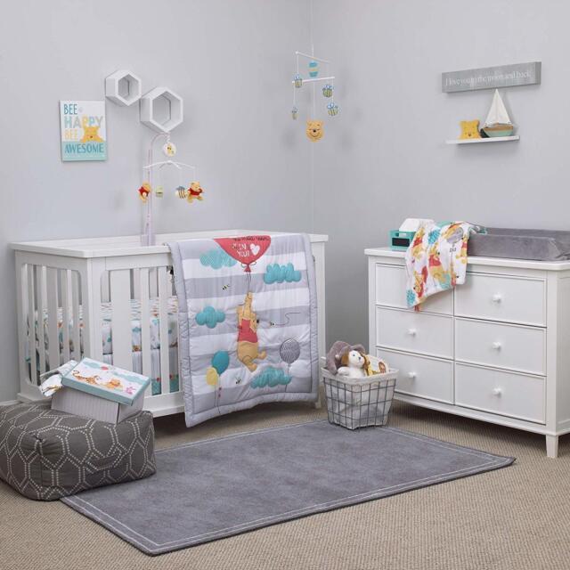 Disney Winnie The Pooh Baby Crib Nursery Bedding Set Boy Furniture Home Mattress