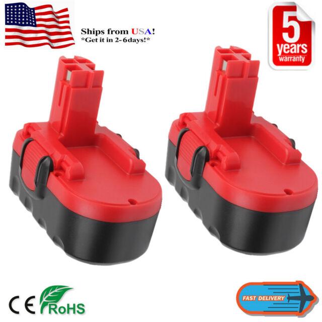 2X 18V BAT181 GSB Battery NiCD For BOSCH BAT180 BAT189 BAT025 BAT026 35618 Tools
