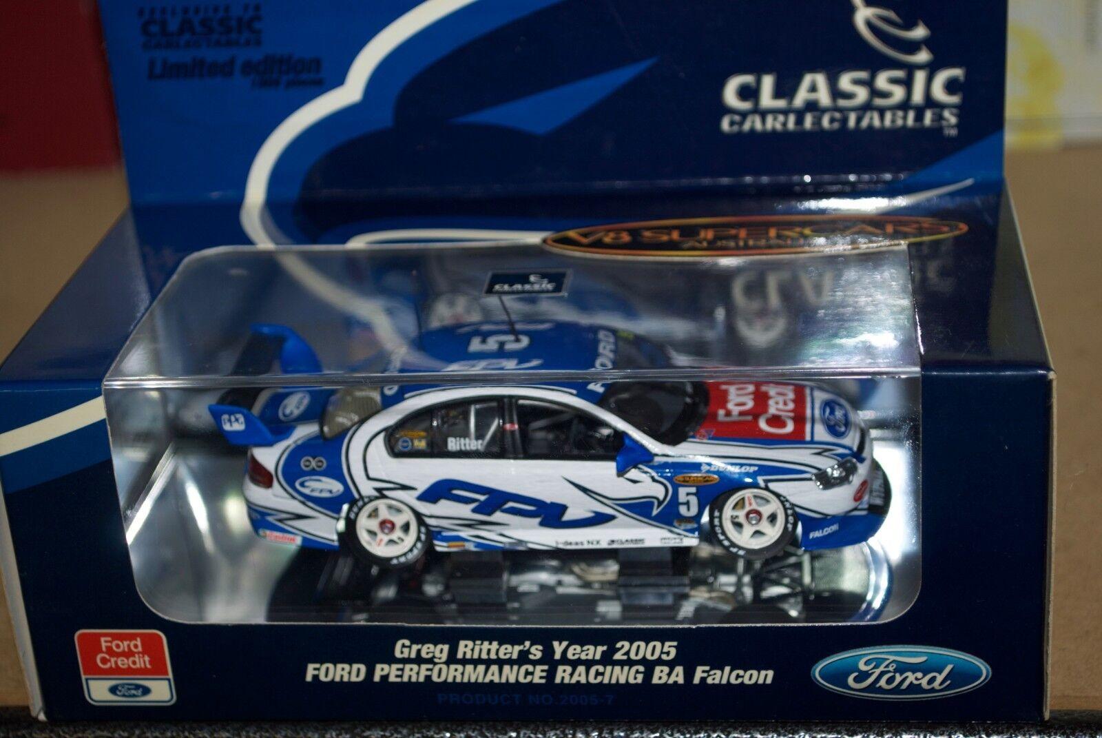 qualità garantita classeic autolectables 1 43 FALCON BA 2005 2005 2005 GREG RITTER FORD PERFORuomoCE RACING  benvenuto a comprare