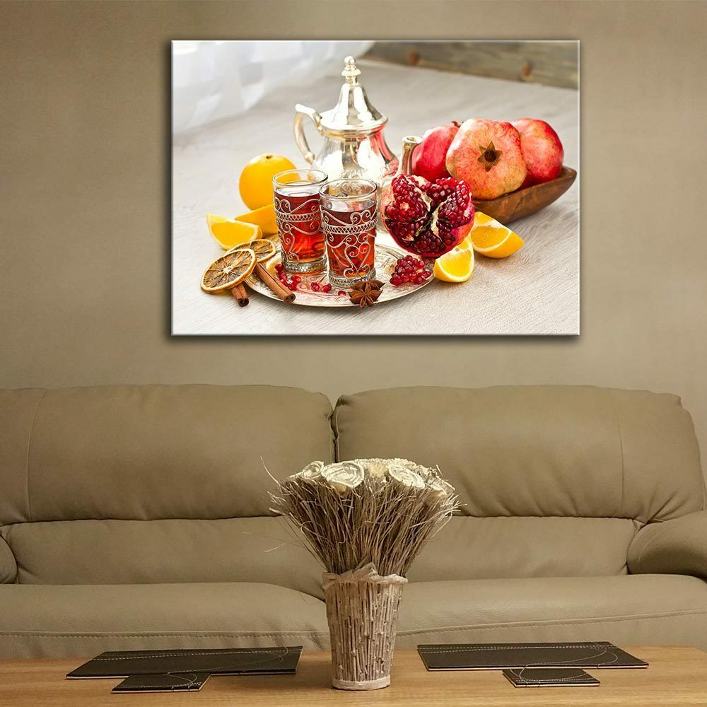 Glass Picture Toughened Wall Art Unique Print New Modern Arabic Tea  Any Größe