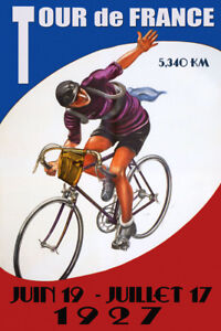 Tour de France 1927 Bicycle Bike Cycle Race French Vintage ...