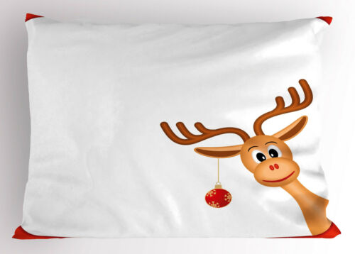 Christmas Pillow Sham Decorative Pillowcase 3 Sizes Available for Bedroom Decor