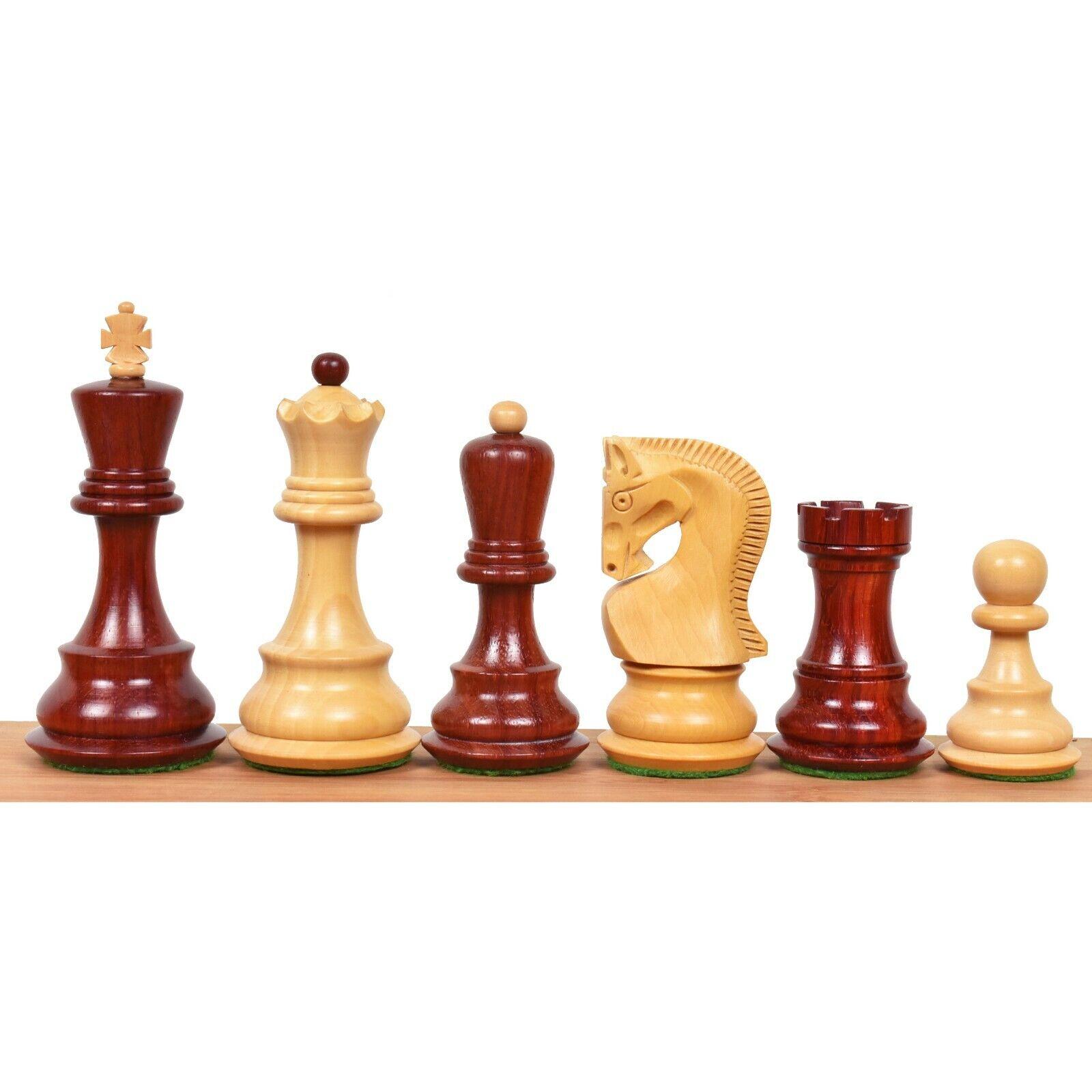 3.9  Zagreb 59' piezas de ajedrez ruso sólo Set-Doble ponderado Bud rosado Madera