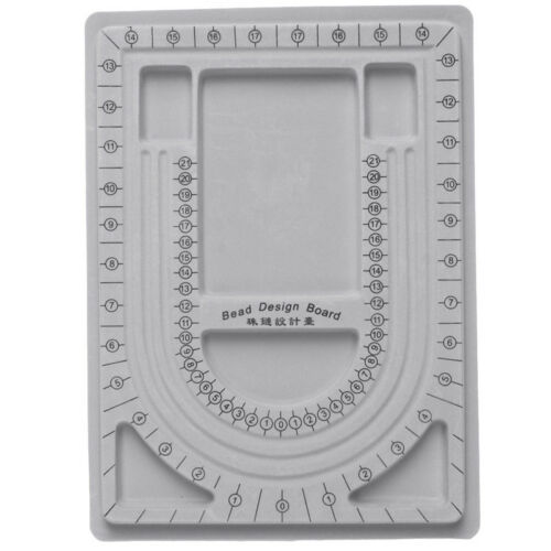 DIY Craft Flocked Bead Board Bracelet Beading Jewelry Organiser Plate Tray Tool
