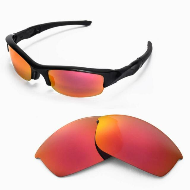 7648c351df WL Polarized Fire Red Replacement Lenses for Oakley Flak Jacket ...