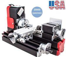 Mini Lathe Machine 12v Miniature Metal Multifunction Diy Lathe 20000revmin
