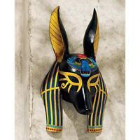 Ancient Egyptian Jackal God Of Afterlife Anubis Wall Mask Sculpture