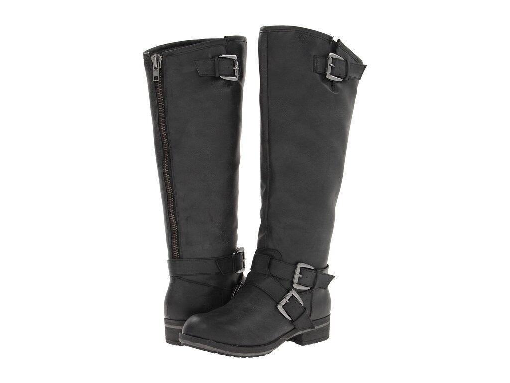 Nuevas botas Para Mujer Madden Madden Madden Girl Legacie Montar Rodilla Alta Imitación de Cuero Negro 6.5  encuentra tu favorito aquí