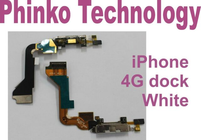 NEW USB Dock Connector Charger Flex Cable for iPhone 4 Replacement Parts White