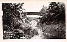 C32/ Massey Canada Ontario Real Photo RPPC Postcard c40s Bridges Sauble River