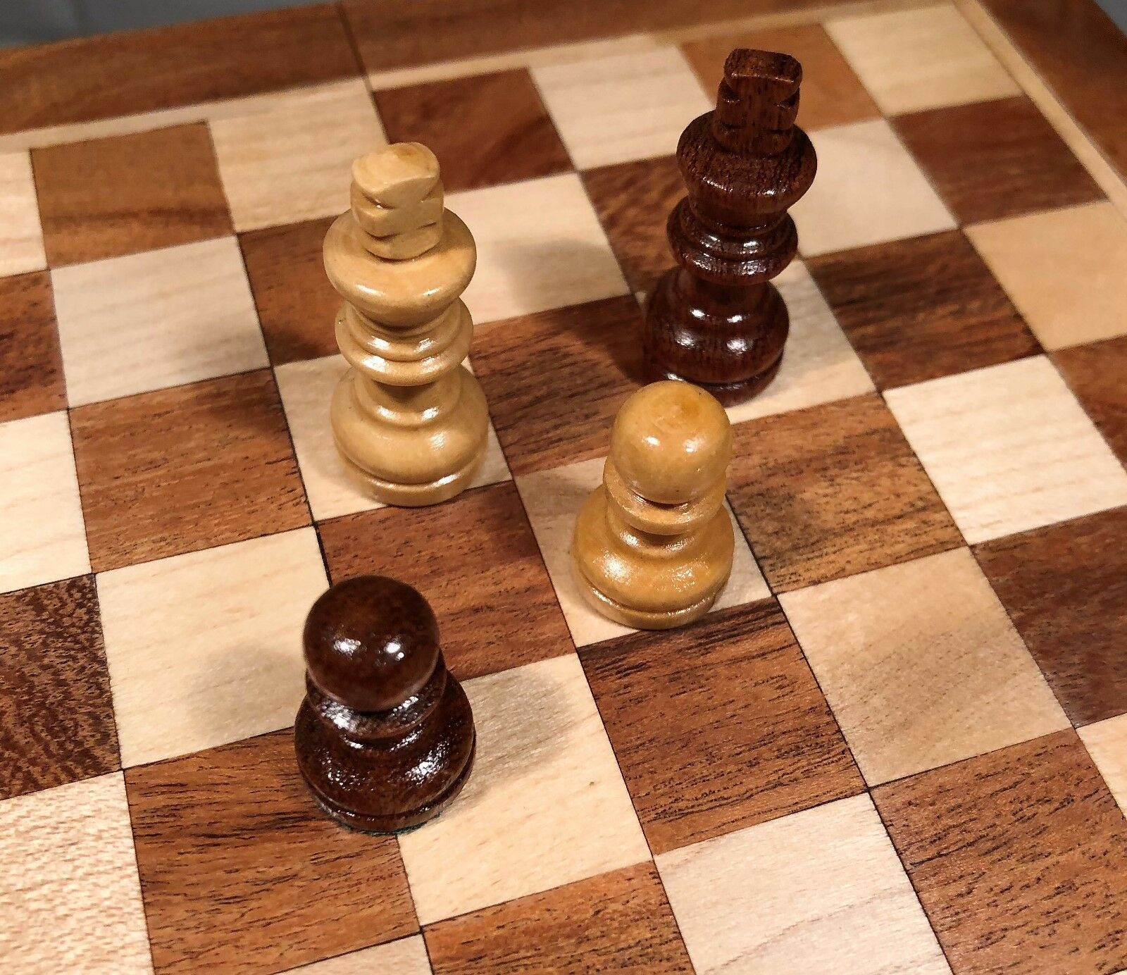 Sheesham pinkwood Handcrafted Magnetic 7  Square Chess Set Board & Pieces 156