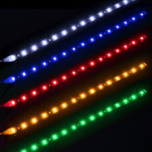 DIY LED Strip Light Decoration Lamp Universal For Car Motorcycle Flexible DC 12V