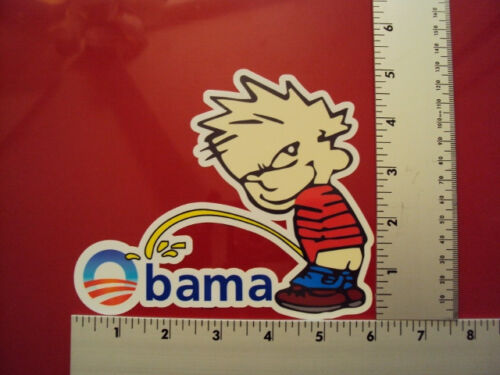 Piss on Obama Political Conservative  Anti Obama NRA window bumper sticker decal