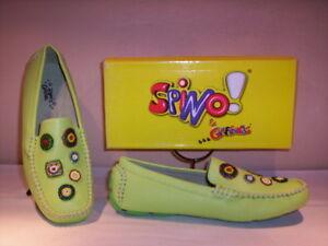 Scarpe-basse-mocassini-Spino-amp-Girlfriends-bimba-bambina-shoes-verdi-29-35-38