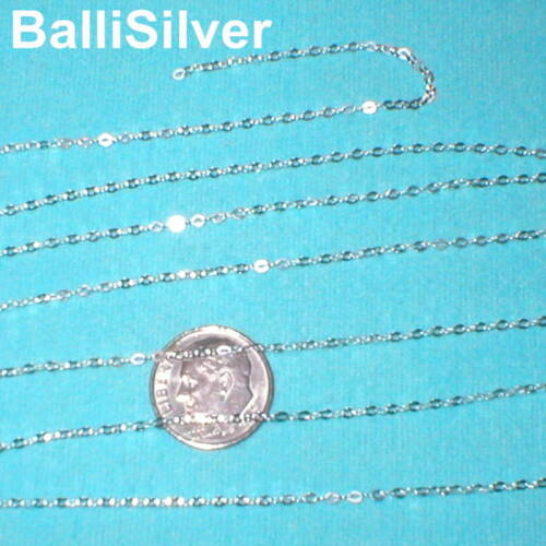 1.5x2mm Sold by the foot BULK Sterling Silver 925 Fine FLAT CABLE CHAIN