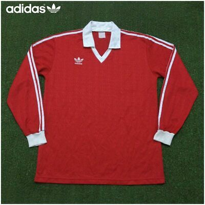 Adidas Red Vintage Soccer Jersey Football Shirt Trikot Size M | eBay