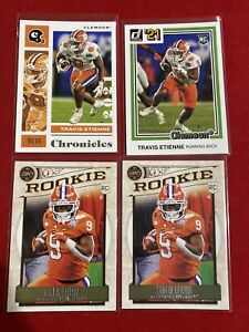 2021 Panini Chronicles Base + Donruss + Legacy Travis Etienne RB RC Lot of 4
