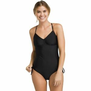 Prana Moorea One-Piece Black Solid Women's Swimsuits Size Small 5918