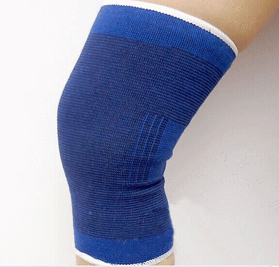 2 Knee Wrap Sleeve Elastic Brace Muscle Support Arthritis Sports Pain Relief NEW