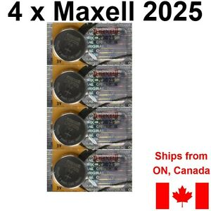 4-NEW-MAXELL-CR2025-DL2025-DL-CR-2025-Batteries-Lithium-BATTERY-FREE-SHIP