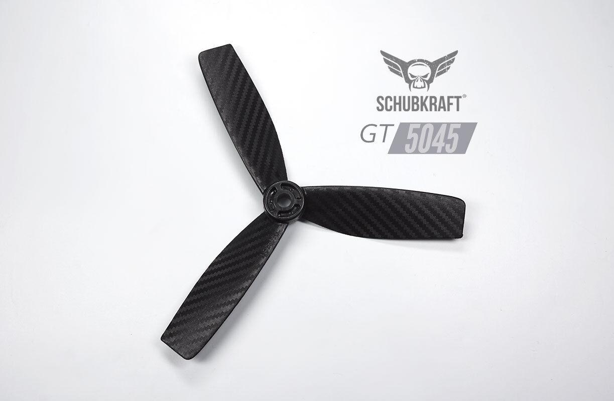 5x4.5x3 schubkraft GT 5045 3-blatt  RACING Elica Set 2x CW 2x CCW NERO FORCE  connotazione di lusso low-key