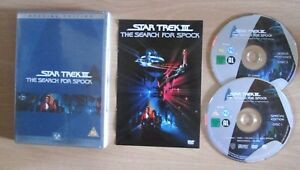 Star-Trek-III-The-Search-for-Spock-Special-Edition-2-disc-set-DVD-with-Insert